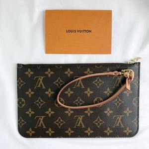 NEW Louis Vuitton Neverfull MM / GM monogram Pouch